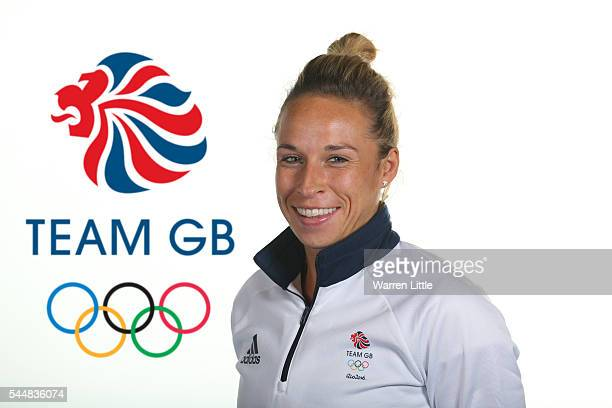 This image has been digitally altered logo added to background A portrait of Susannah Townsend a member of the Great Britain Olympic team during the...