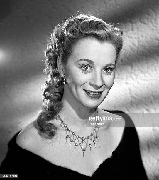 1950 A portrait of Swedish actress Mai Zetterling on the set of the film Hell is Sold Out