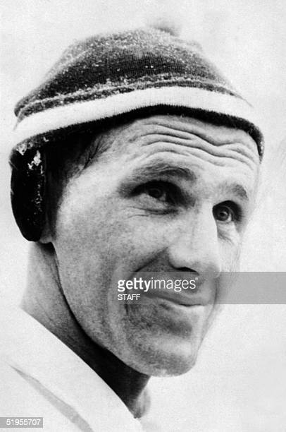 Portrait of Swedish cross country skier Sixten Jernberg taken 02 February 1956 in Cortina d'Ampezzo during the Winter Olympic Games Jernberg won gold...
