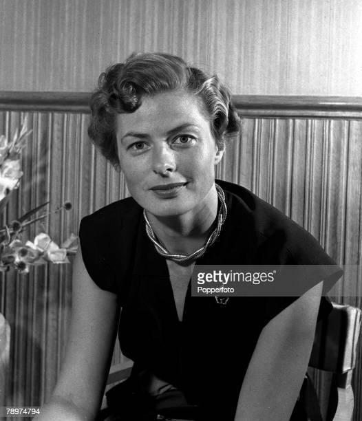 1951 A portrait of Swedish film and stage actress Ingrid Bergman