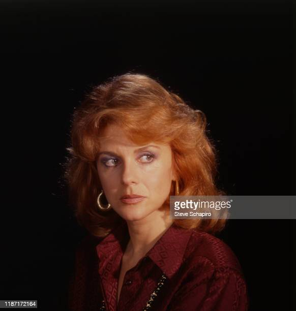 Portrait of Swedishborn American actress AnnMargret as she poses against a black background Los Angeles California 1978