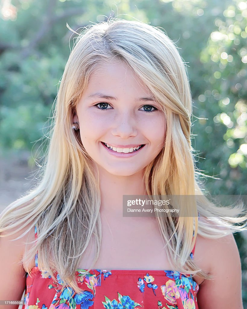 Portrait Of Sweet Face Blond Girl High-Res Stock Photo -4501