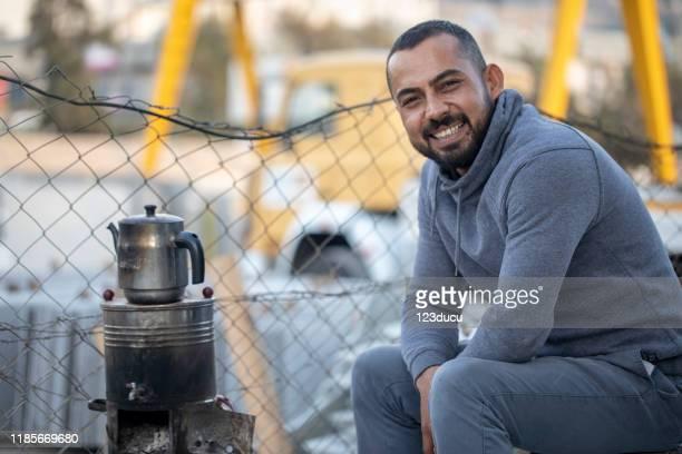 porträt des syrischen mannes - nordafrika stock-fotos und bilder