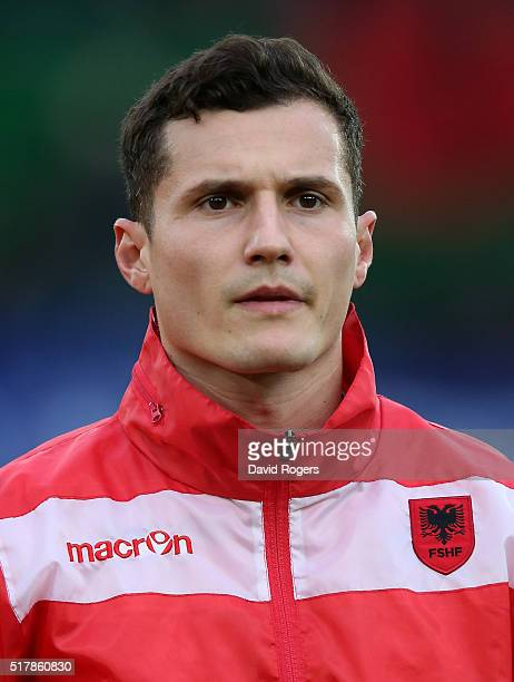 A portrait of Taulant Xhaka of Albania during the international friendly match between Austria and Albania at the Ernst Happel Stadium on March 26...