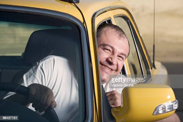 portrait of taxi driver - taxi driver stock photos and pictures