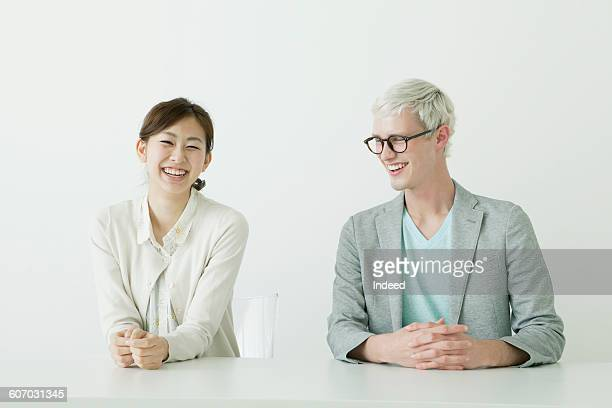 Portrait of teacher and student