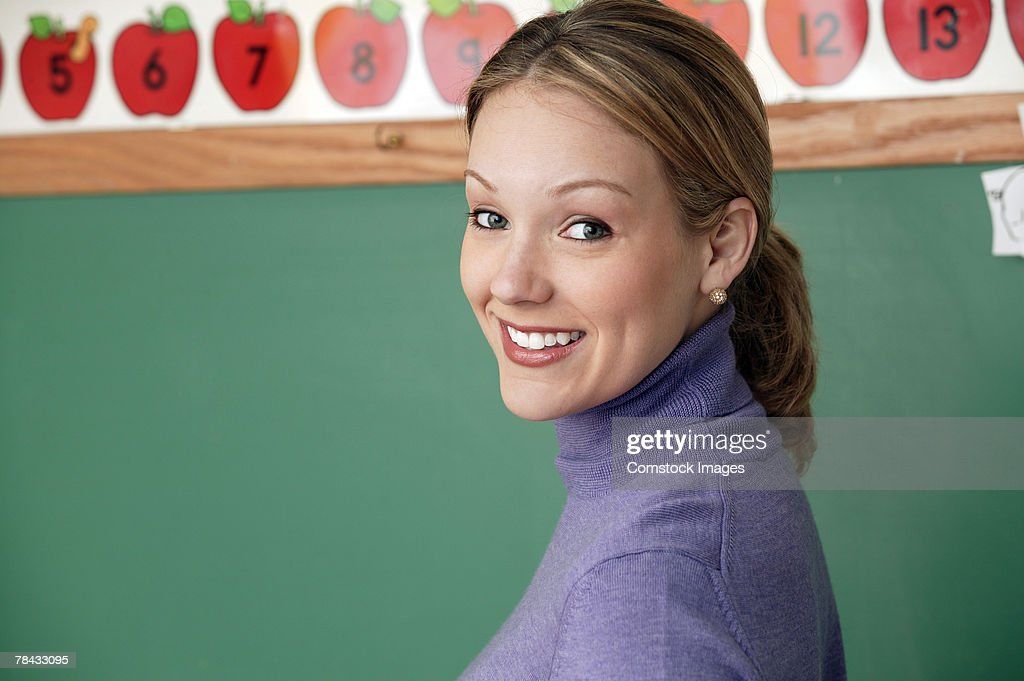 Portrait of teacher : Stockfoto