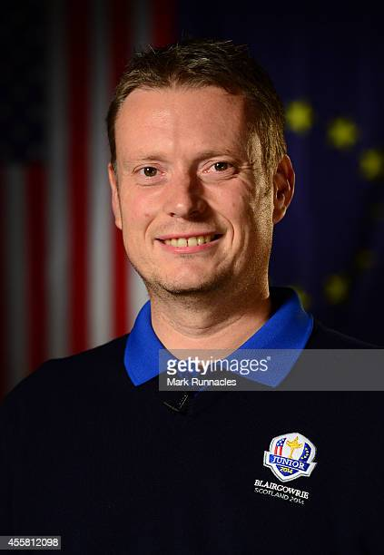 A portrait of Team Europe Captain Stuart Wilson during the 2014 Junior Ryder Cup of Previews on September 20 2014 in Blairgowrie Scotland