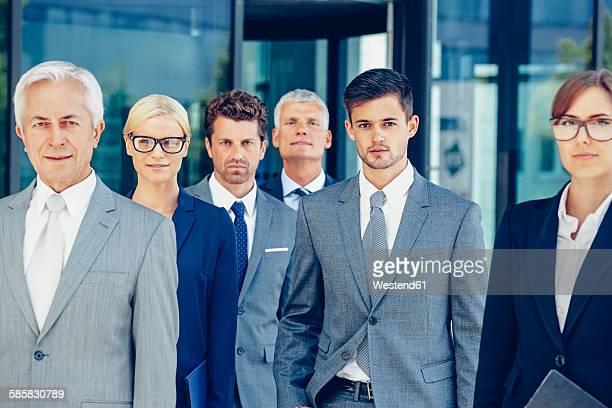 Portrait of team of corporate professionals