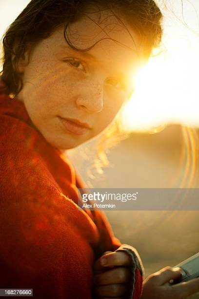 Retrato de menina adolescentes com Efeito de Refracção de Luz