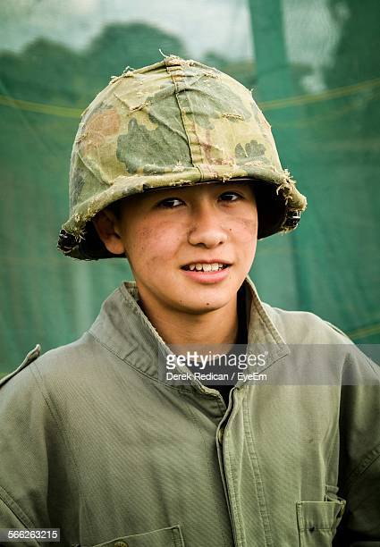 Portrait Of Teenage Army Soldier