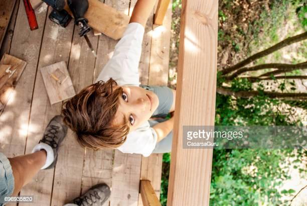Portrait of Teenage Boy Directly Above