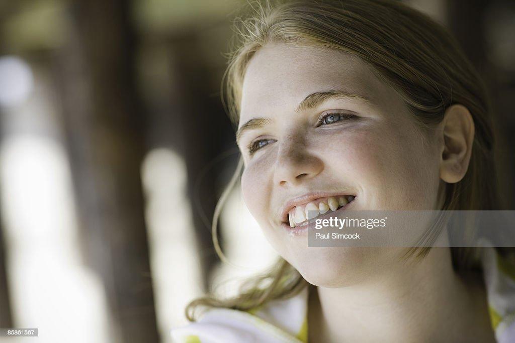 Portrait Of Teenage Girl : Stock-Foto