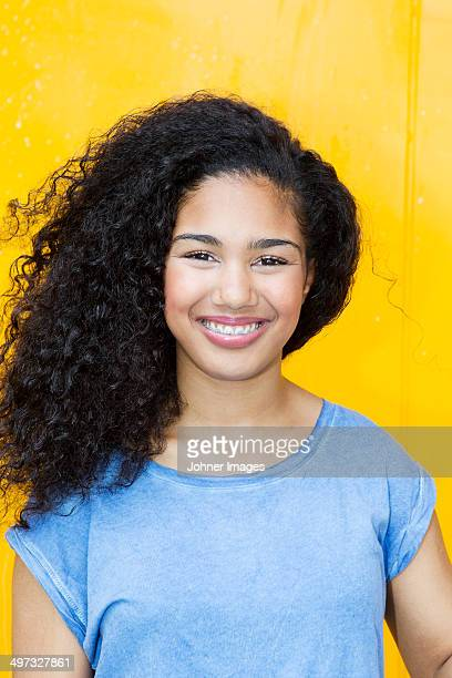 portrait of teenage girl, studio shot - beautiful girl smile braces vertical stock photos and pictures
