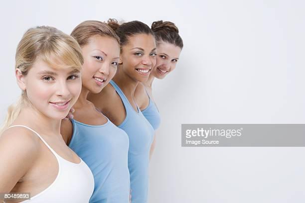 Portrait of teenage girls in their underwear