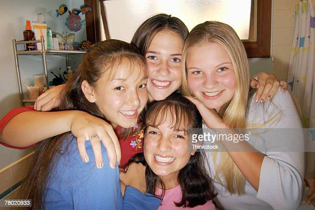 portrait of teenage girls - thinkstock stock photos and pictures