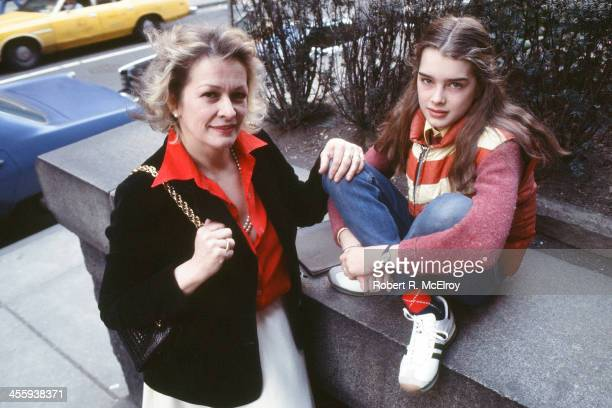 Portrait of teenaged American actress and model Brooke Shields and her mother Teri Shields New York New York 1978