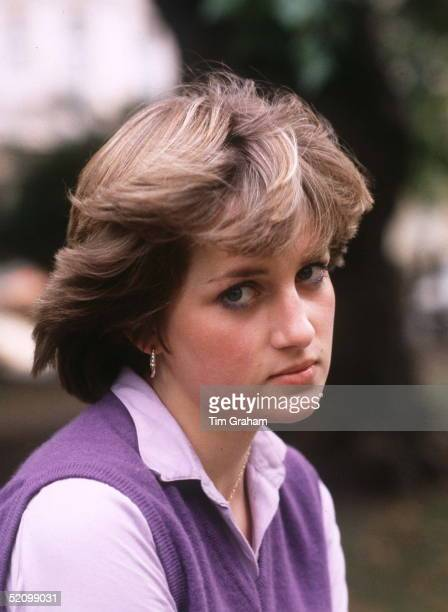 Portrait Of Teenager Lady Diana Spencer Looking Pensive And Shy Aged 19 At The Young England Kindergarden Nursery School In Pimlico London