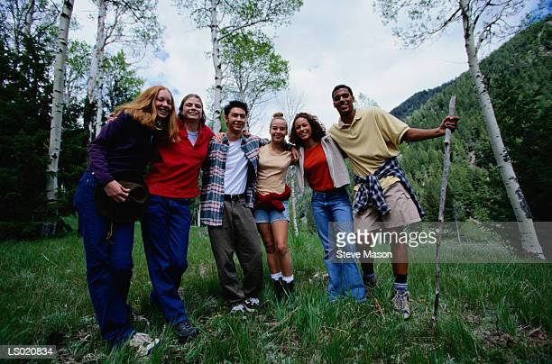 Portrait of Teens in Mountains