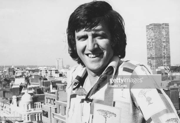 Portrait of television and radio presenter Ed Stewart on a rooftop September 16th 1977