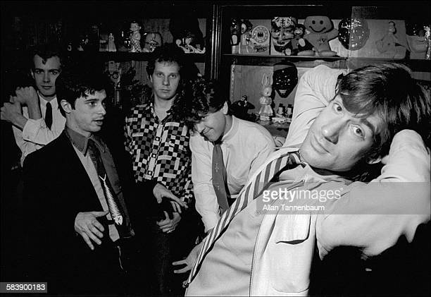 Portrait of television personality and musician Lance Loud and his band the Mumps New York New York October 25 1978