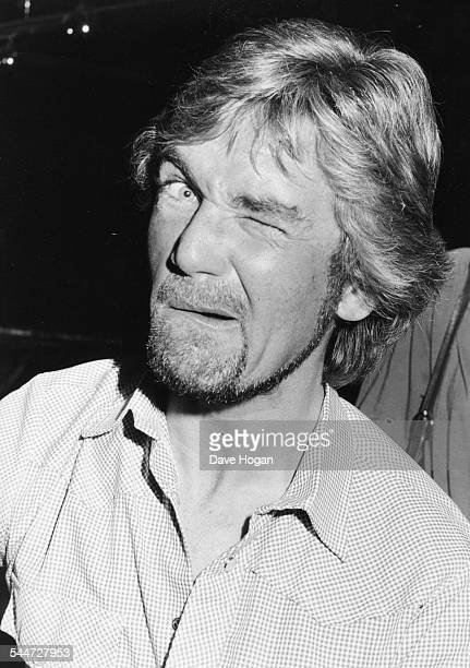 Portrait of television personality Noel Edmonds winking at the camera circa 1988