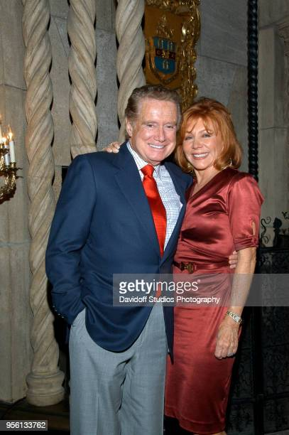 Portrait of television personality Regis Philbin and his wife Joy Philbin at the MarALago estate Palm Beach Florida on Thanksgiving Day November 27...
