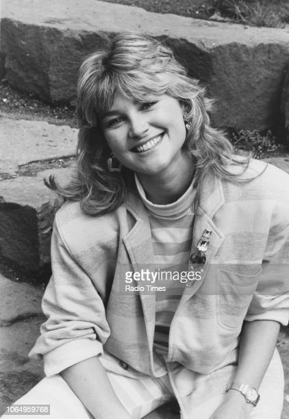 Portrait of television presenter Anthea Turner July 31st 1987