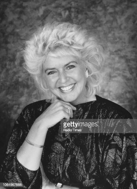 Portrait of television presenter Gloria Hunniford photographed for Radio Times in connection with her BBC Radio 2 show August 1987