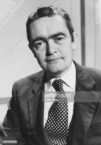 Portrait of television presenter Hugh Scully photographed for Radio Times in connection with the BBC show 'Antiques Roadshow' January 20th 1981