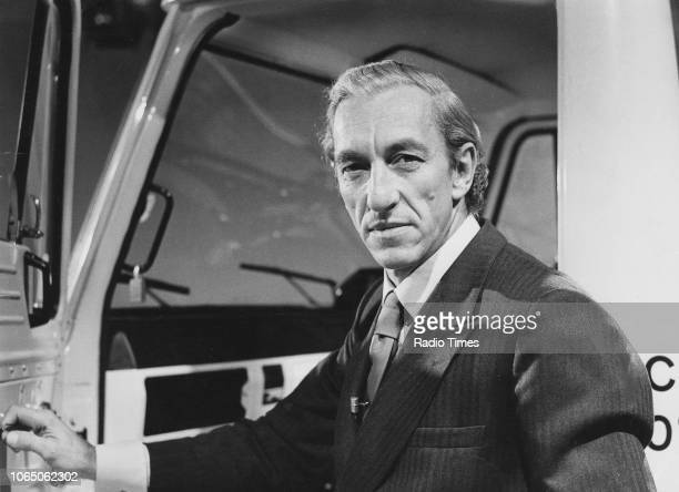 Portrait of television presenter Raymond Baxter September 1972