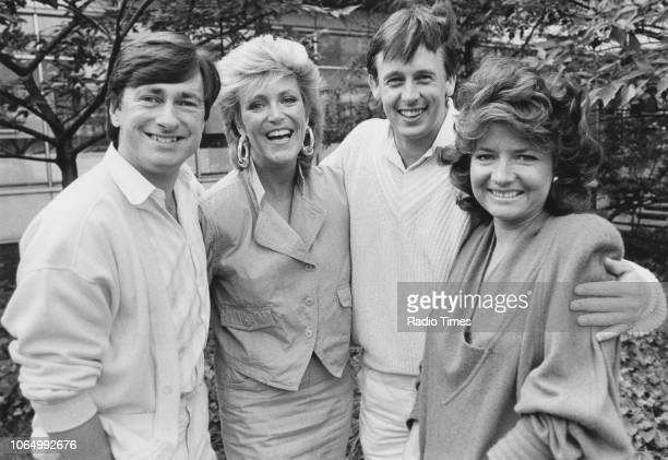 Portrait of television presenters Alan Titchmarsh Judi Spiers Ross Davidson and Pamela Armstrong photographed for Radio Times in connection with the...