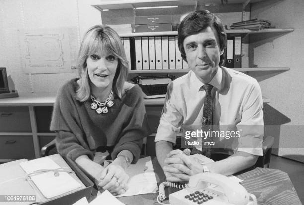 Portrait of television presenters Lynn Faulds Wood and John Stapleton photographed for Radio Times in connection with the BBC show 'Watchdog'...