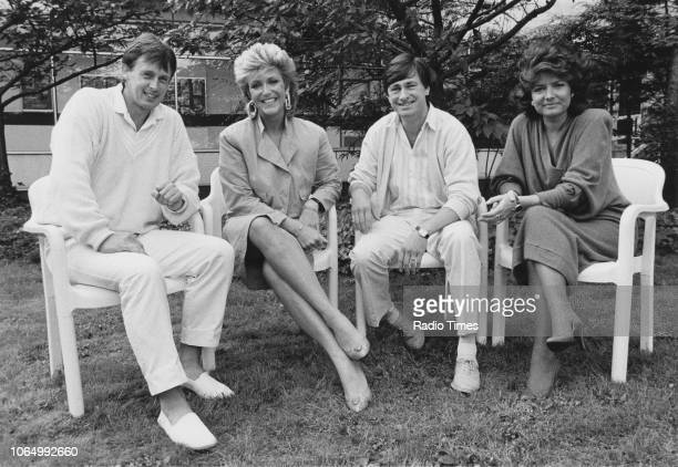 Portrait of television presenters Ross Davidson Judi Spiers Alan Titchmarsh and Pamela Armstrong photographed for Radio Times in connection with the...