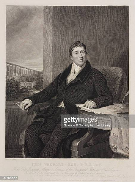 Portrait of Telford who was responsible for some of the finest feats of civil engineering in the early 19th century His Caledonian Canal was...