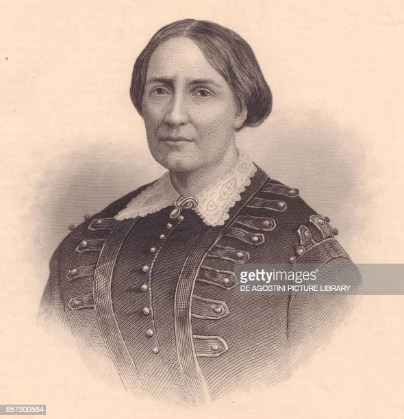 Portrait of Teresa Christina of BourbonTwo Sicilies Empress of Brazil engraving by William Wellstood circa 1870