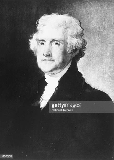 Portrait of the 3rd US President Thomas Jefferson
