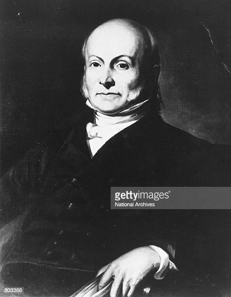 Portrait of the 6th US President John Quincy Adams