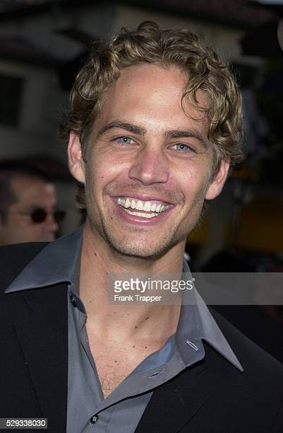 Portrait of the actor Paul Walker who plays 'Brian Spindler' in the film by Rob Cohen