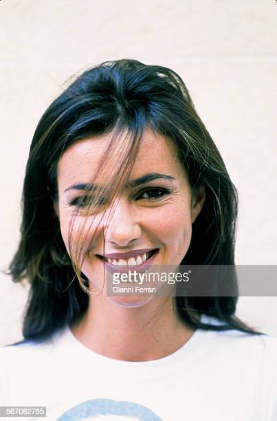 Portrait of the actress and TV presenter Arancha Del So, 7th June1999, Madrid, Spain. .