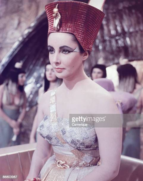 Portrait of the actress Elizabeth Taylor in the title role from the movie Cleopatra 1963