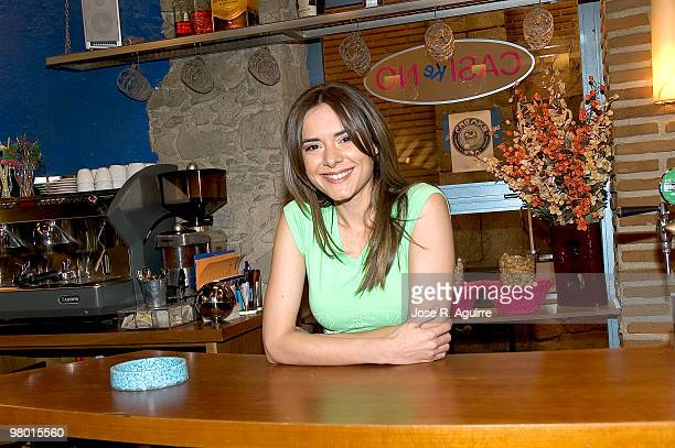 Portrait of the actress Eva Santolaria during the presentation of the 'Siete Vidas' TV serie in Spain.
