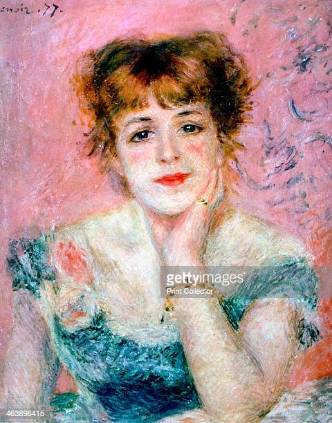 Portrait of the Actress Jeanne Samary' 1878 Jeanne Samary was an actress at the Comedie Francaise Pushkin Museum of Fine Arts Moscow