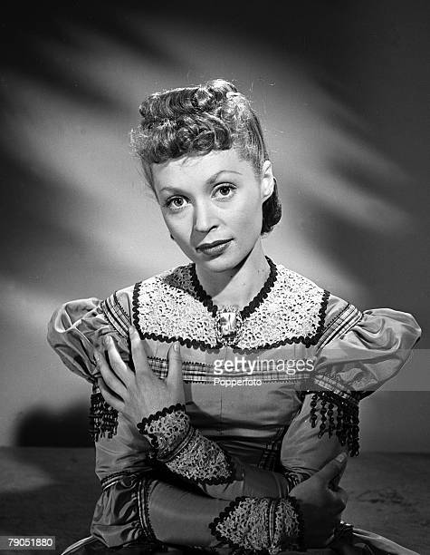 Portrait of the actress Lilli Palmer in costume for her part in the film 'Thunder Rock'