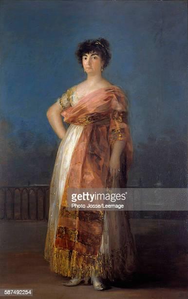 Portrait of the actress Maria del Rosario Fernandez Painting by Francisco de Goya 206 x 130 cm Real Academia de Bellas Artes de San Fernando Madrid