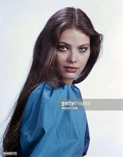 Portrait of the actress Ornella MUTTI studio