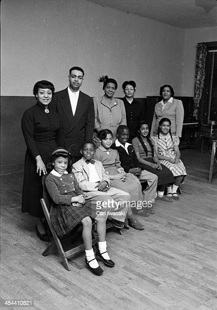 Portrait of the AfricanAmerican students and their parent who initiated the landmark Civil Rights lawsuit 'Brown V Board of Education' Topeka Kansas...