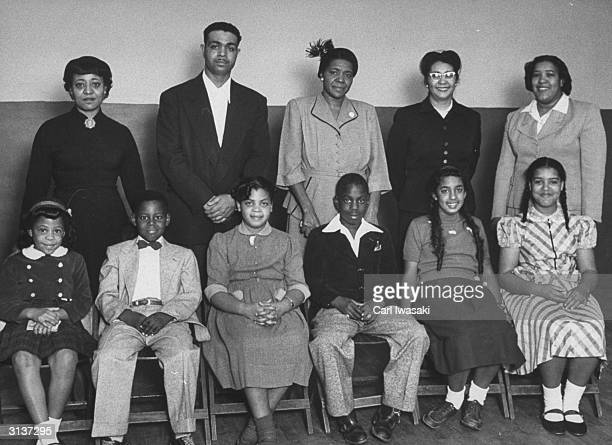 Portrait of the AfricanAmerican students for whom the famous Brown vs Board of Education case was brought and their parents Vicki Henderson Donald...