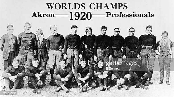 Portrait of the Akron Professionals the first NFL champions 1920 The team was led by AllAmerica halfback Fritz Pollard who in 1921 became the first...