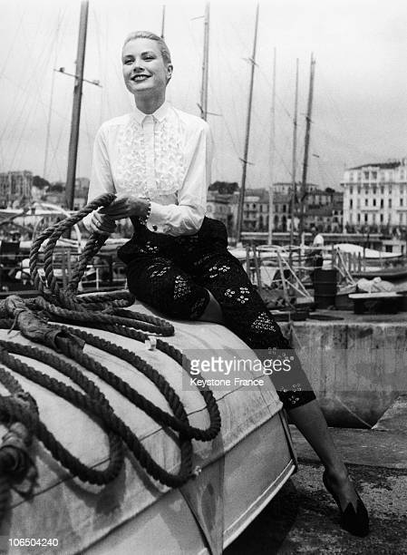 Portrait Of The American Actress Grace Kelly In AprilMay 1955 In Cannes For The Festival On This Trip She Met Prince Rainier Of Monaco